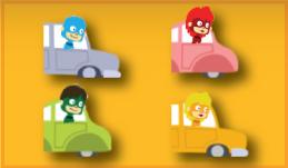Color Heroes - Heroes in Cars